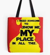 "STAR WARS - ""I Need Someone to Show Me My Place in All This."" by Rey Tote Bag"