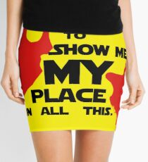 """STAR WARS - """"I Need Someone to Show Me My Place in All This."""" by Rey Mini Skirt"""