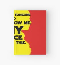 """STAR WARS - """"I Need Someone to Show Me My Place in All This."""" by Rey Hardcover Journal"""