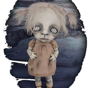 Creepy Little Girl Gothic BJD Art Doll by darkalleydolls