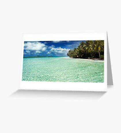Aqua rhythm Greeting Card