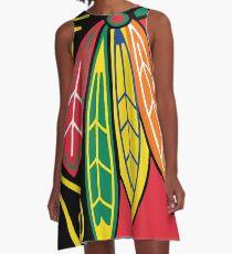 Native American Tribe Chicago American Blackhawks A-Line Dress