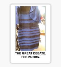 Black and Blue? White and Gold? Sticker