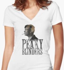 Peaky Blinders -Thomas Shelby  Women's Fitted V-Neck T-Shirt