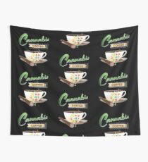 Cannabis and Coffee Wall Tapestry