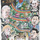End of year card - decorating the Christmas tree 2017  by Gary Shaw