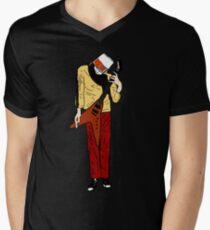 Camiseta de cuello en V Buckethead