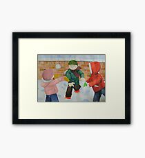 snowball fight Framed Print