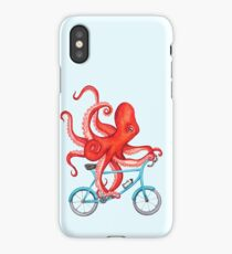 Cycling octopus iPhone Case/Skin