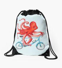 Cycling octopus Drawstring Bag