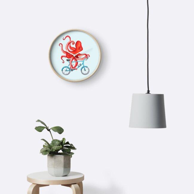 Cycling octopus by Amélie  Legault
