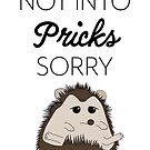 Not Into Pricks Sorry by LPDesignsAndArt