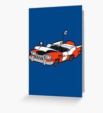 Junk Pile Cats Cadillac Greeting Card
