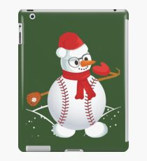 Baseball Dabbing Snowman T shirt kids Christmas gift Tees iPad Case/Skin