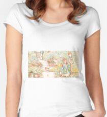 The World Of Beatrix Potter large vintage illustration Fitted Scoop T-Shirt