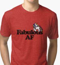 Fabulous AF Unicorn Tri-blend T-Shirt