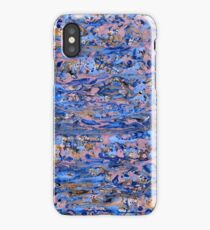 Abstract blue painting iPhone Case