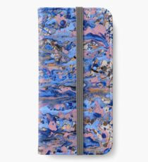 Abstract blue painting iPhone Wallet/Case/Skin
