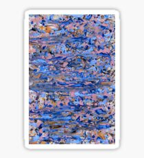 Abstract blue painting Sticker