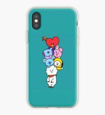 BT21 - RJ, Mang, Koya, Shooky, Cooky, Chimmy, Tata BTS fanart iPhone Case