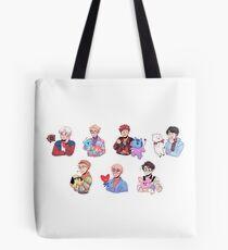 Bolsa de tela BTS con sus amigos BT21 !!!