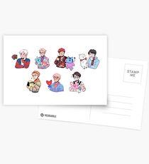 Postales BTS con sus amigos BT21 !!!