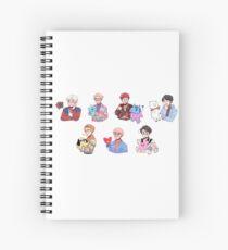 BTS with their BT21 friends!!! Spiral Notebook