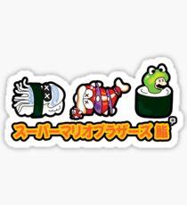 Super Mario Bros Sushi Sticker