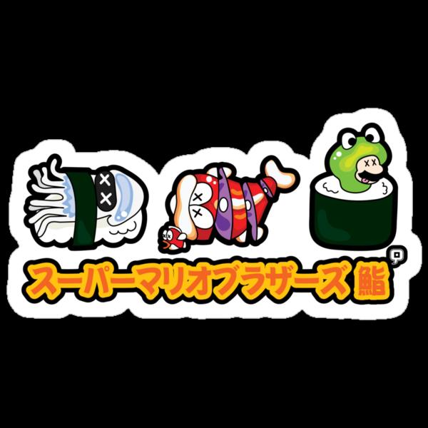 Super Mario Bros Sushi by thickblackoutline