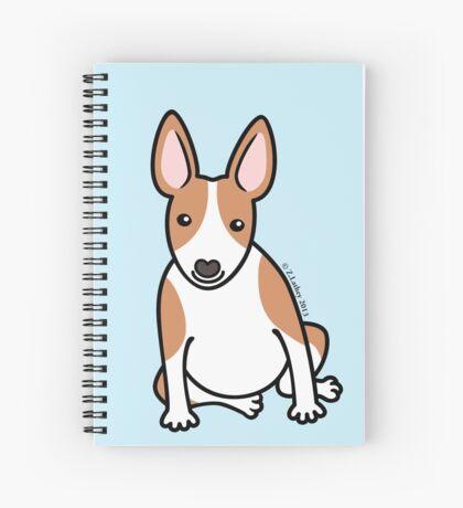 English Bull Terrier Puppy Dog ... brown & white Spiral Notebook