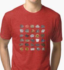 Edelsteine und Kristalle Ores und Mineralien Rock Collecting Chart Vintage T-Shirt