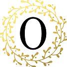 Monogramm-Buchstabe O | Personalisiert | Schwarz und Gold Design von PraiseQuotes
