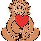 Lovable Orangutan by zoel