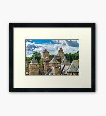Fougeres castle in Bretagne, France, sunny day, tourism concept Framed Print