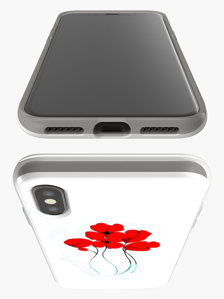 Vista alternativa de Funda y vinilo para iPhone Poppies