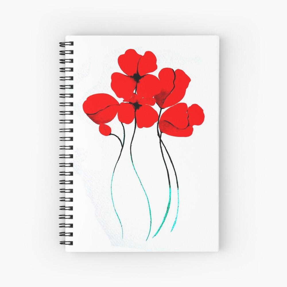 Poppies Cuaderno de espiral