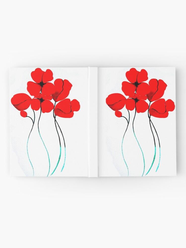 Vista alternativa de Cuaderno de tapa dura Poppies