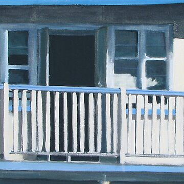 The Verandah - acrylic on canvas by ChristineBetts