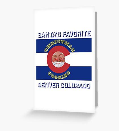 Santa's Favorite Christmas Cookies Greeting Card