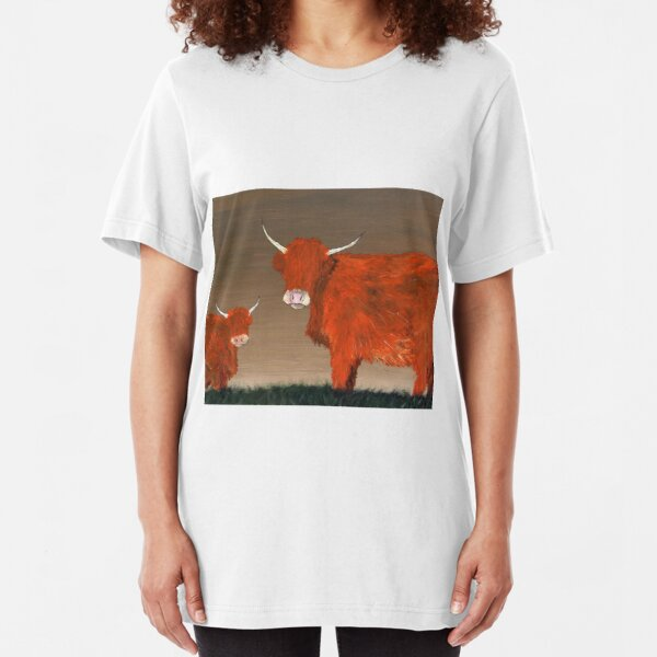 Highland Cow Slim Fit T-Shirt
