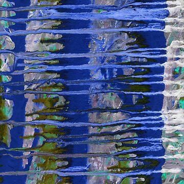 Pintura azul de afremovartist
