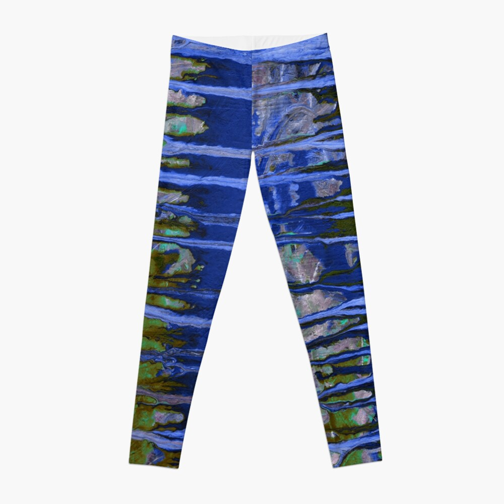 Pintura azul Leggings
