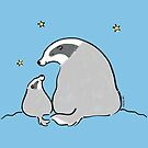 Mother and Baby Badger by zoel