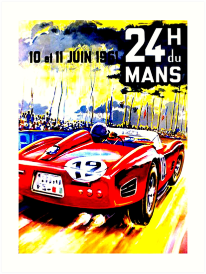"""MANS"" Vintage Grand Prix Auto Race Advertising Print by posterbobs"