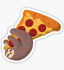Sloth and pizza Sticker