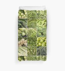 Fruits and Vegetables Collage Duvet Cover