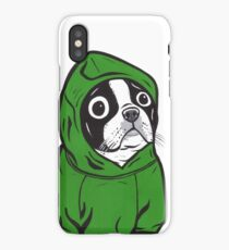 Boston Terrier Green Hoodie iPhone Case/Skin