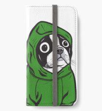 Boston Terrier Green Hoodie iPhone Wallet/Case/Skin