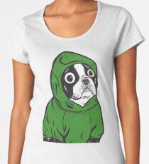 Boston Terrier Green Hoodie Women's Premium T-Shirt