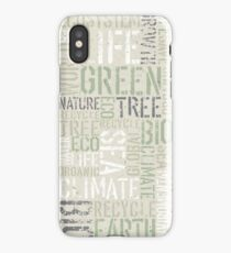 Ecology Words iPhone Case